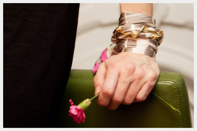 Scarf Chain Wrap Bracelet DIY Close Up