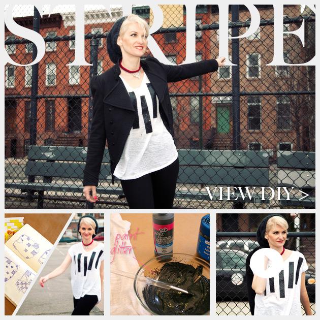 Striped Glitter T Shirt DIY Feature