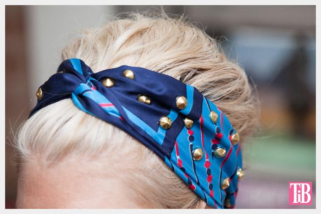 DIY Studded Turban Close Up