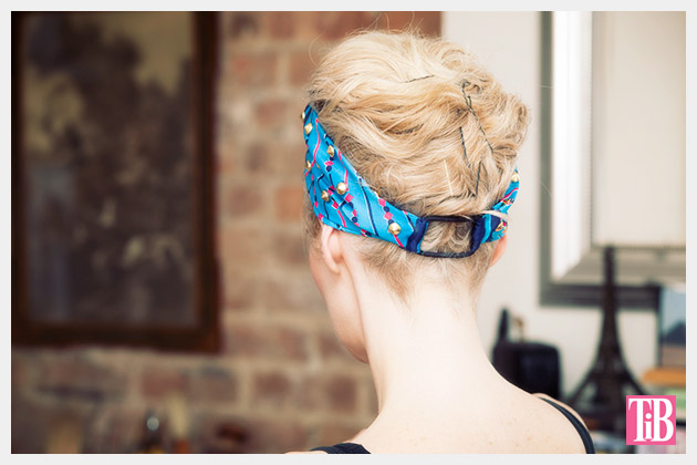 DIY Studded Turban Back View