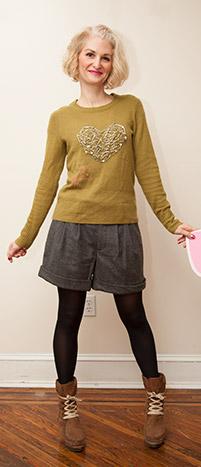 Valentines Heart Sweater DIY