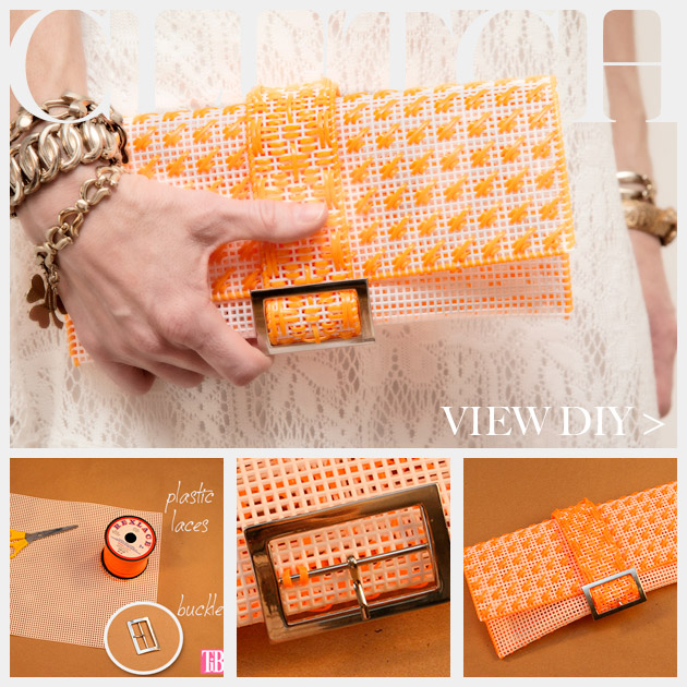 DIY Plastic Canvas Clutch Feature