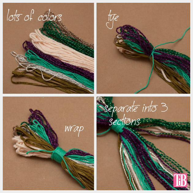 DIY Braided Headband Cutting and Tying