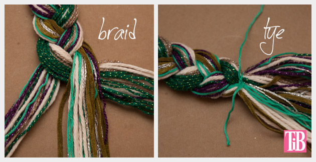 DIY Braided Headband Braiding