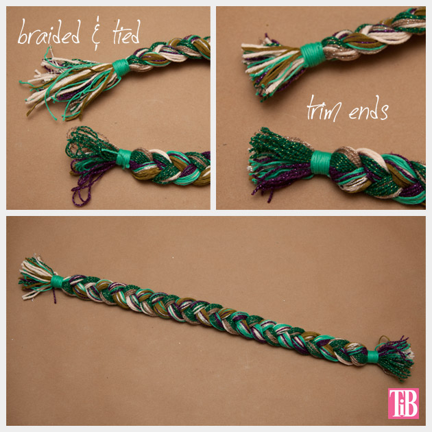 DIY Braided Headband Tying