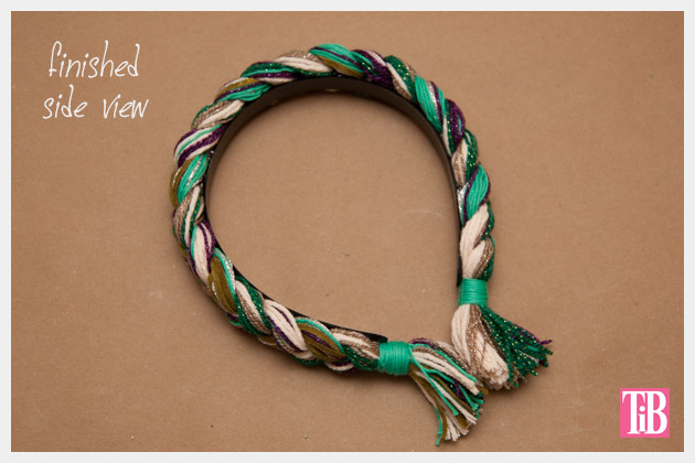 DIY Braided Headband Finished