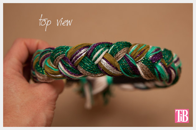 DIY Braided Headband Top View