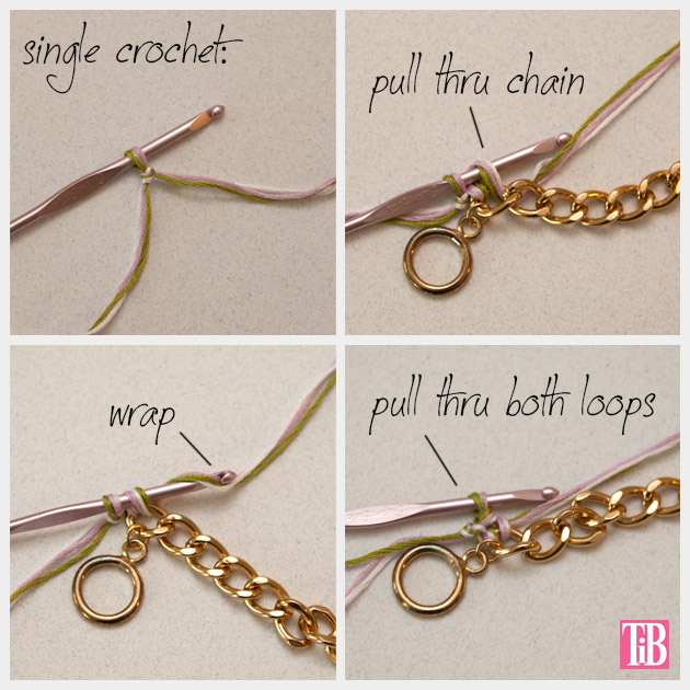 DIY Crochet Beaded Bracelet Crochet 1