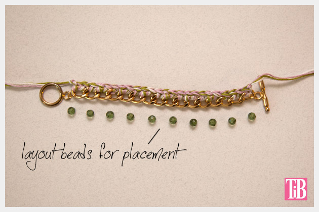 DIY Crochet Beaded Bracelet Layout Beads