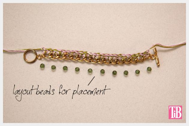DIY Crochet Beaded Bracelet Layout Beads