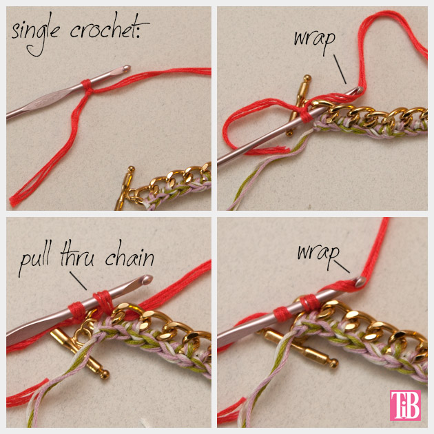 DIY Crochet Beaded Bracelet Crochet 2