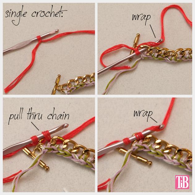 DIY Crochet Beaded Bracelet Crochet 2