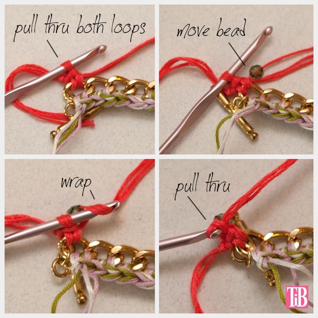 DIY Crochet Beaded Bracelet Crocheting Beads