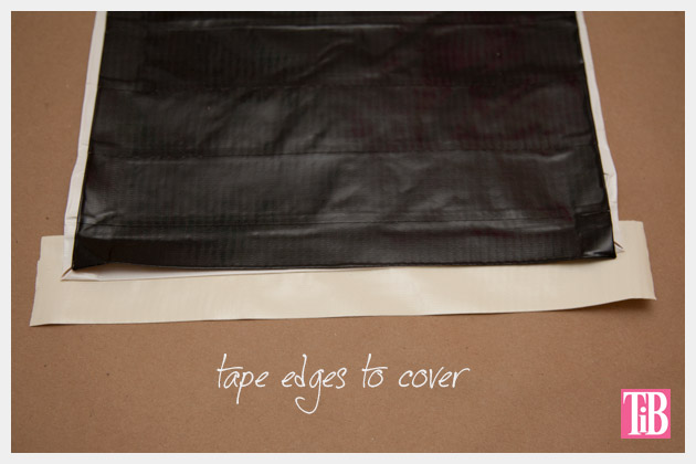 DIY Duct Tape Clutch Covering Edges