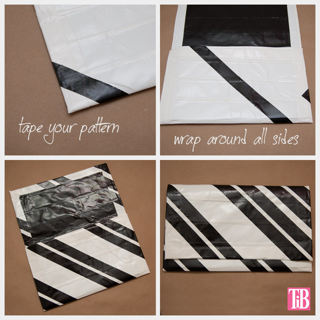 DIY Duct Tape Clutch Making Geo Stripes