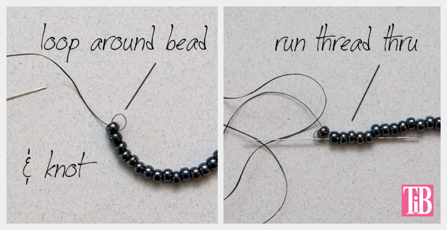 DIY Tassel Necklace Beading 2