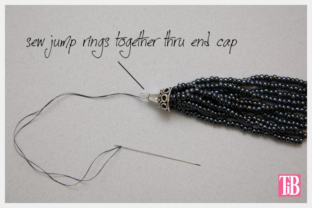 DIY Tassel Necklace Making Tassel 2