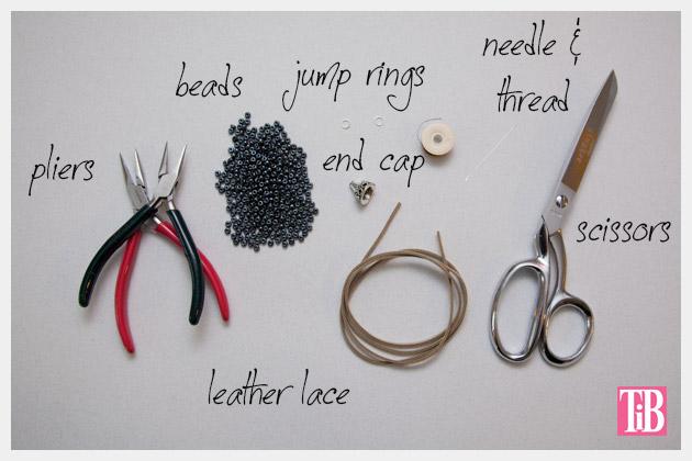 DIY Tassel Necklace Supplies