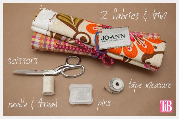 DIY Trinket Bag Supplies