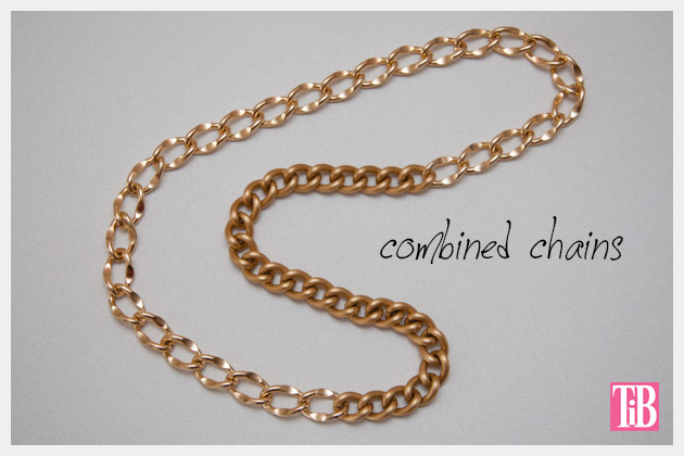 DIY Woven Chain Necklace Combined Chains