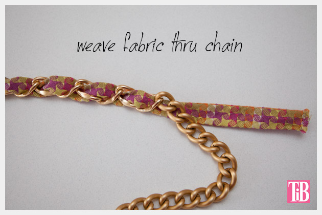 DIY Woven Chain Necklace Weave Fabric
