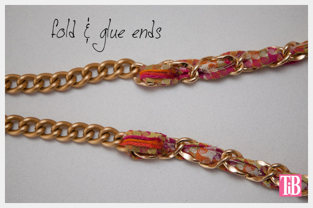 DIY Woven Chain Necklace Glue Ends