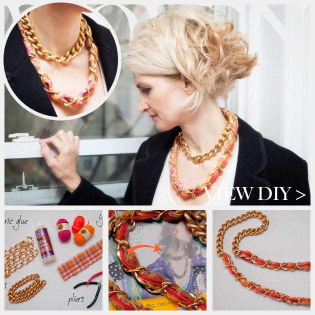 DIY Woven Chain Necklace Feature www.trinketsinbloom.com
