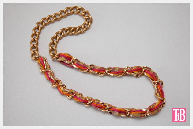 DIY Woven Chain Necklace Finished