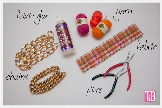 DIY Woven Chain Necklace Supplies