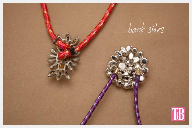 DIY Rhinestone Cord Necklace Backs