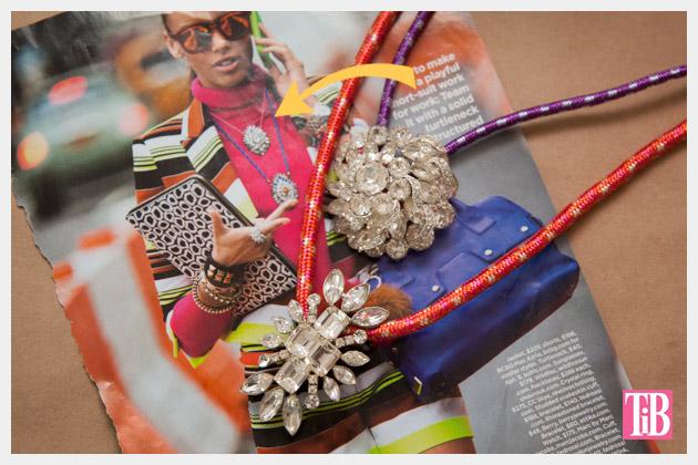 DIY Rhinestone Cord Necklace Inspiration