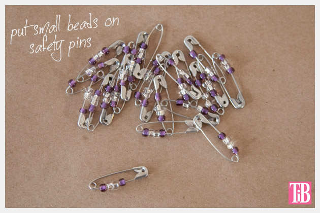 DIY Safety Pin Bracelet with Brooch Safety Pins