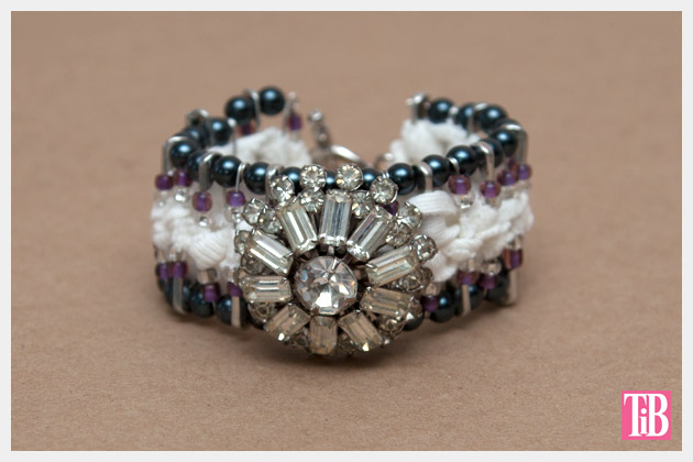 DIY Safety Pin Bracelet with Brooch