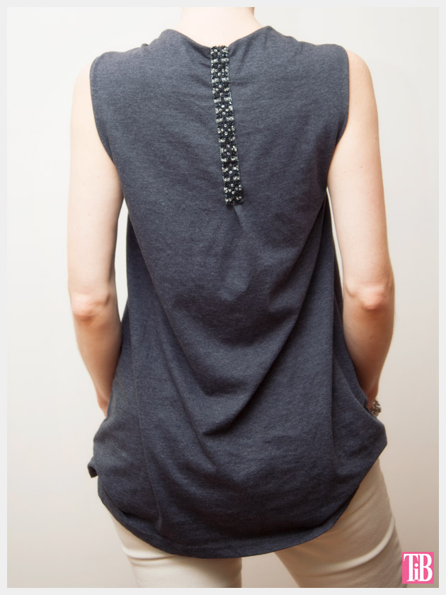 DIY Studded T-Shirt Back View