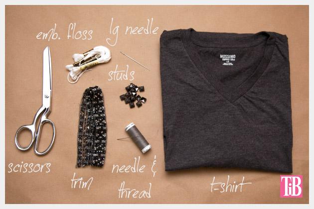 DIY Studded T Shirt Supplies