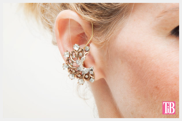 DIY Ear Cuff Close Up Vintage