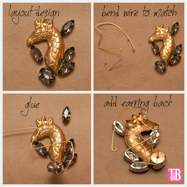 DIY Ear Cuff Giraffe