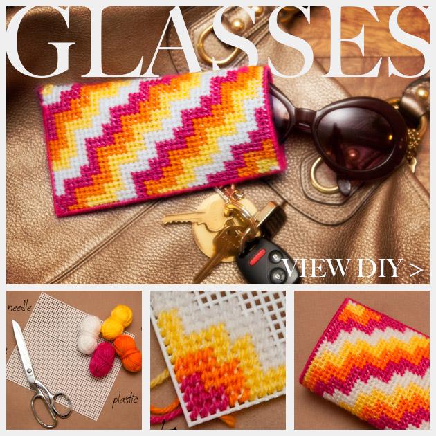 DIY Plastic Canvas Glasses Case Feature www.trinketsinbloom.com