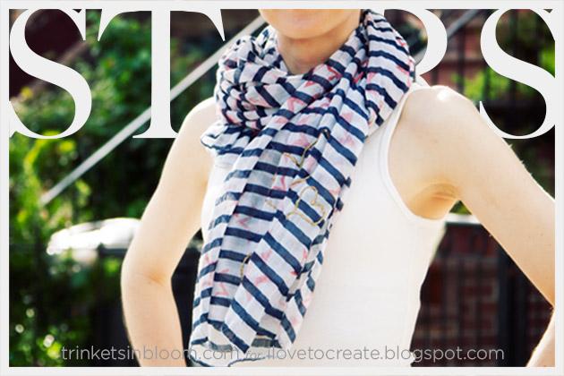 DIY Stars and Stripes Scarf Feature www.trinketsinbloom.com