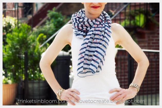 DIY Stars and Stripes Scarf Photo