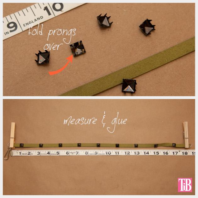 DIY Studded Bracelets Folding Prongs