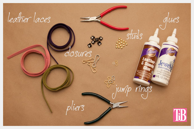 DIY Studded Bracelets Supplies