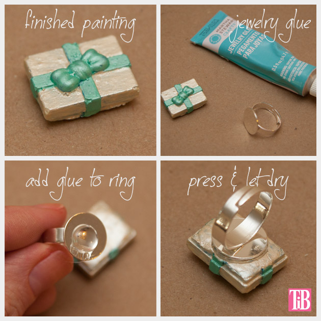 Martha Stewart Jewelry Ring Gluing