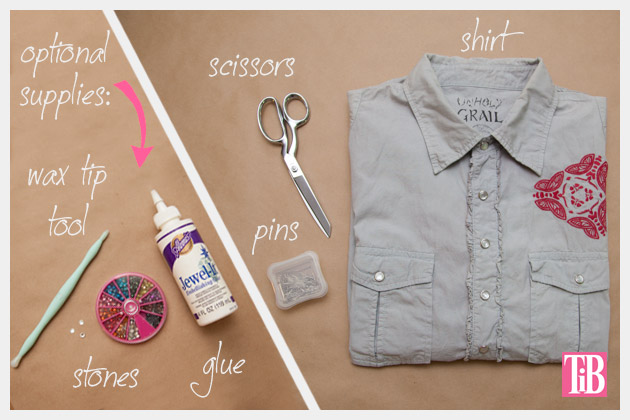 How to Alter a Man's Shirt into a Cute Summer Top Supplies