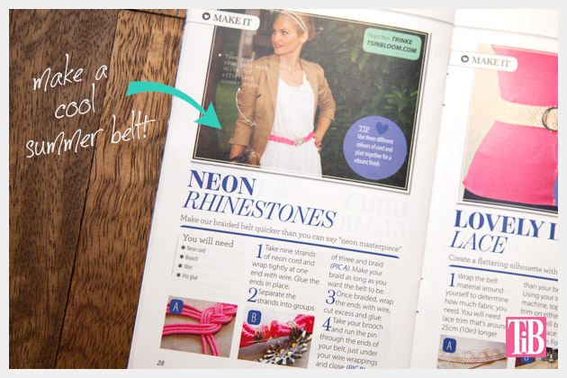 Cloth Magazine Feature DIY Neon Belt