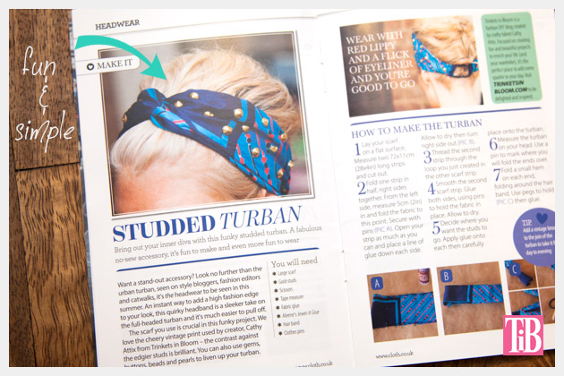 Cloth Magazine Feature DIY Studded Turban