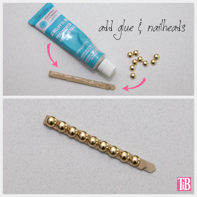 DIY Bobby Pins Nailheads