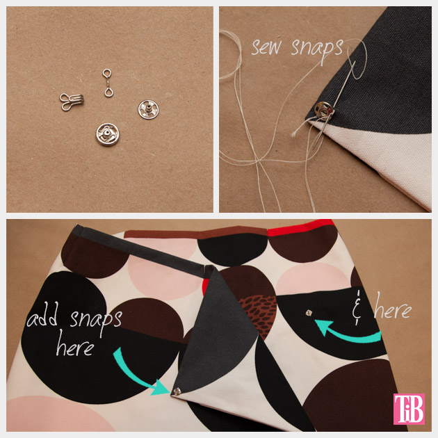 DIY Wrap Skirt Snaps