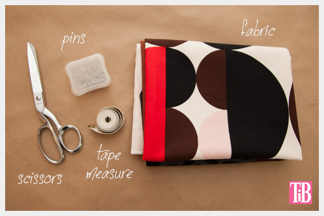 DIY Wrap Skirt Supplies