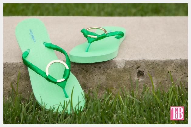Green and Gold DIY Flip Flops Photo 1